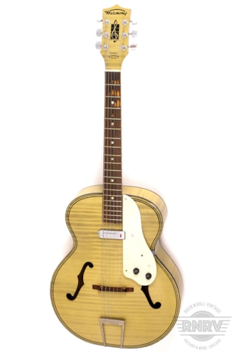 1961 Harmony 1961 H1214 Archtop Flamed White Blonde Excellent, $695.00