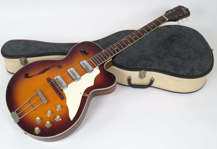 1961 Kay K6980 Swingmaster Sunburst, Excellent, Original Soft, $1,295.00