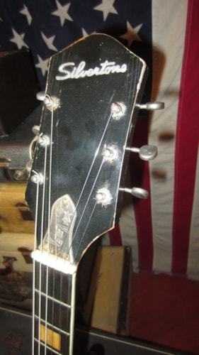 1961 Silvertone Espanada Black, Excellent, Hard, $1,695.00