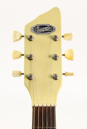 1961 Supro Town and Country White, Excellent, Hard, $899.00