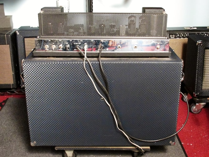 1962 Ampeg SB-12 XY Blue Checkered Tolex, Mint, Soft, $1,395.00