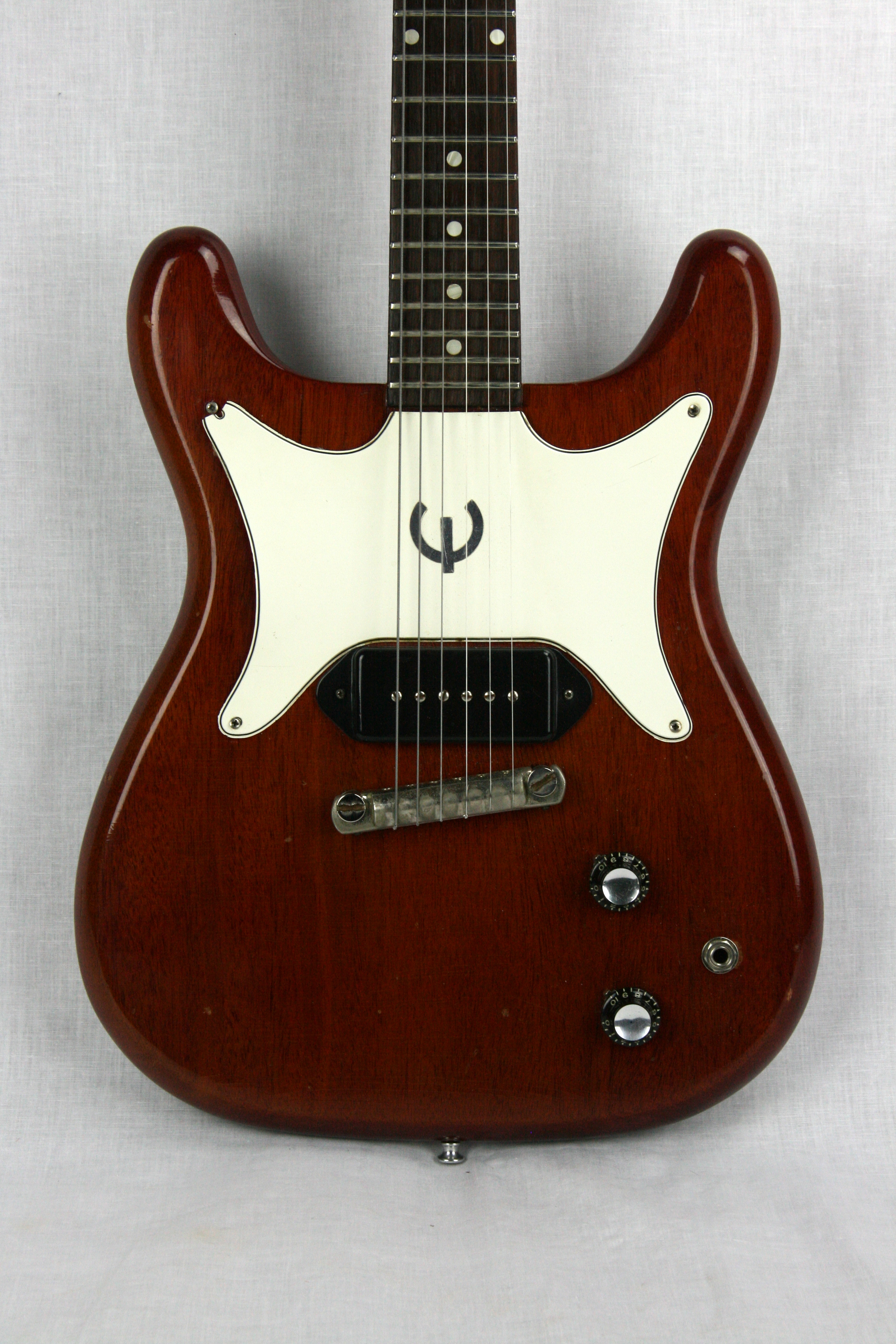 1962 Epiphone Coronet! Gibson-Made Les Paul SG Jr  Cherry Red, Excellent,  Hard, $2,995 00