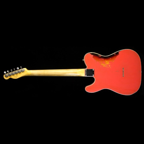 1962 Fender Custom Shop Masterbuilt Paul Waller 1962 Telecaster Custom Relic Electric Guitar Fiesta Red over 3-Tone Sunburst Brand New, $7,999.00