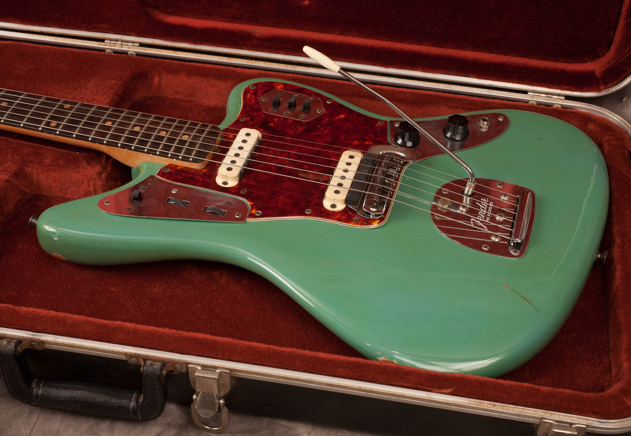 1962 Fender Jaguar Sea Foam Green Very Good Hard 2 450 00