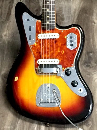 1962 Fender Jaguar Sunburst, Excellent, $5,995.00