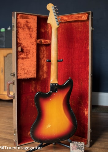 1962 Fender Jazzmaster Sunburst, Very Good, Original Hard, $1.00