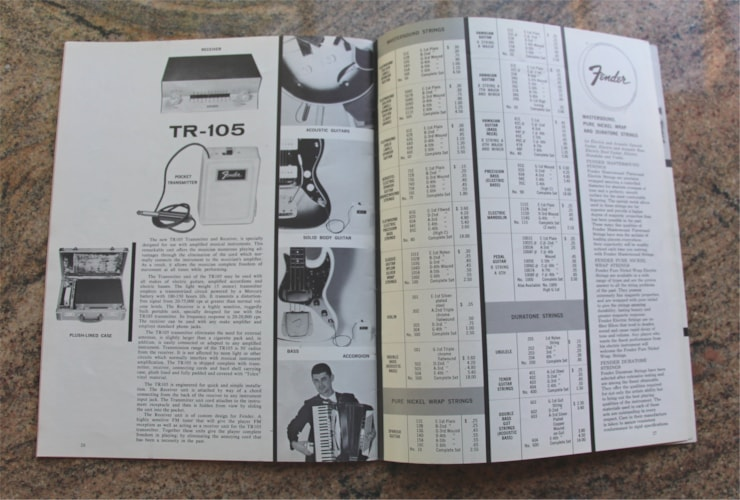 1962 Fender Original Vintage 1962 Catalog & Price List (Not a Reprint) Excellent, $499.95