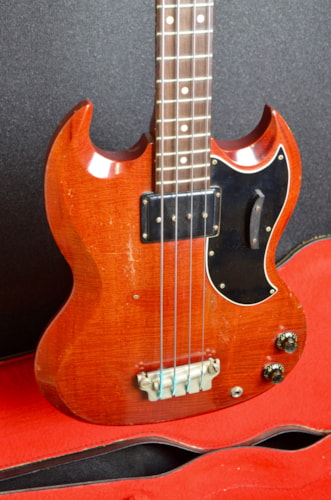 1962 Gibson EB-0 Cherry Red, Good, Original Soft, $1,599.00