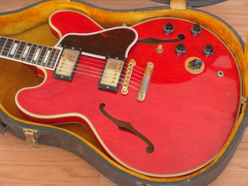 1961 Gibson ES-355 TDSV FACTORY STOP TAIL Cherry, Excellent, Original Hard