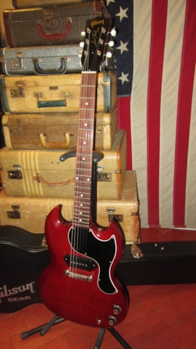 1962 Gibson  SG JR Juntior Cherry Red Wide Nut Les Paul on Headstock Plays GREAT