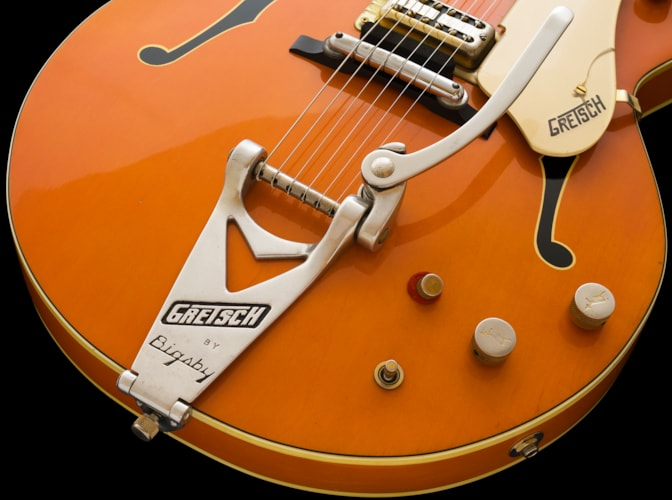 1962 Gretsch 6120 Double Cutaway, Amber Red, an EARLY EXAMPLE w/6220 Western Case