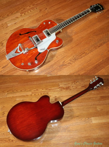 1962 Gretsch Tennessean   Faded Burgundy finish, Very Good, Original Hard