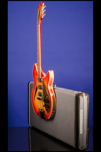 "1962 Rickenbacker 375 ""OS"" (three pickups, with vibrato) Fireglo (FG), Mint, Original Hard"