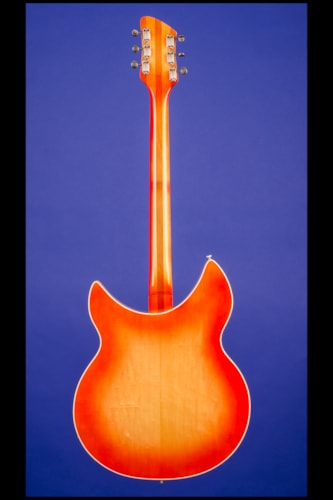 "1962 Rickenbacker 375 ""OS"" (three pickups, with vibrato) Fireglo (FG), Mint, Original Hard, $18,500.00"