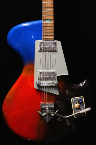 1962 Wandre Rock Oval Factory Vibrato Psychedelic Sparkle, Good, Soft, Call For Price!