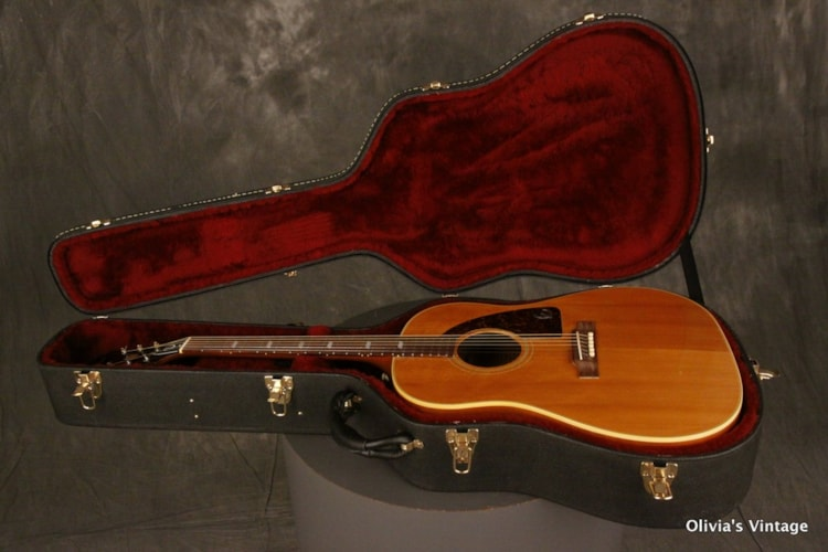 1963 Epiphone FT-79 Texan PAUL MCCARTNEY specs set-up left-handed Natural, Very Good, Hard, $5,945.00