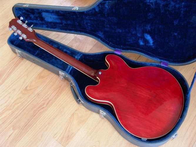 1963 Epiphone Professional with Matching Amp. Cherry, Excellent, Original Hard