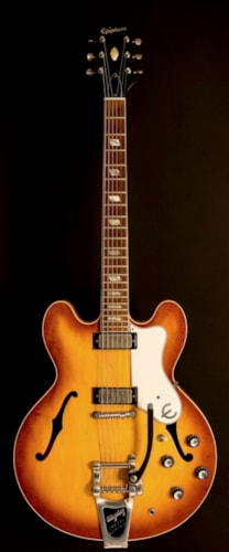 1963 Epiphone Riviera Royal Tan, Near Mint, Original Hard, $7,500.00