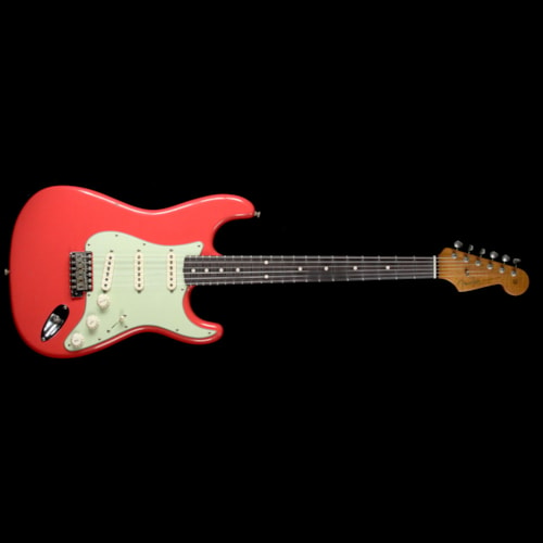 1963 Fender Custom Shop 1963 Roasted Alder Stratocaster Journeyman Relic Electric Guitar Fiesta Red Brand New, $3,600.00