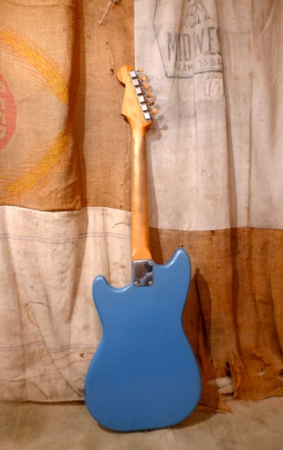 1963 Fender Duo-Sonic Blue - Refin, Very Good, GigBag
