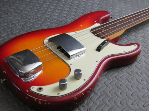 1963 Fender® Precision Bass® Factory Cherry Sunburst, Near Mint, Original Hard, $10,999.99