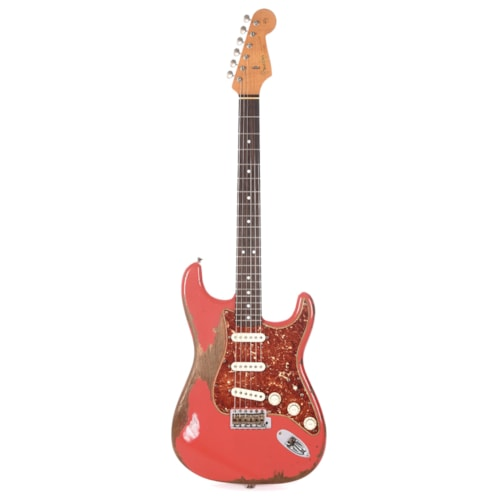 Fender Custom Shop 1963 Stratocaster Heavy Relic Aged Fiesta Red Master Built by Carlos Lopez (Serial #R103835)