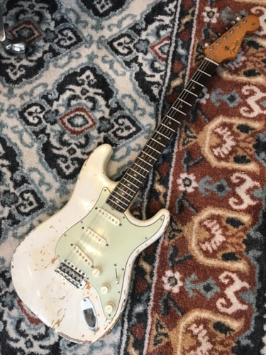 1963 Fender Stratocaster Olympic White, Very Good, Original Hard
