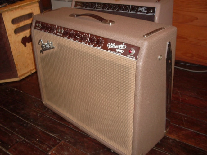 1963 Fender® Vibroverb Brown, Excellent, $8,000.00