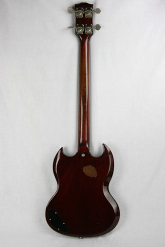 1963 Gibson EB-0 Bass, Cherry Red Cherry Red, Very Good, Original Soft, $1,350.00