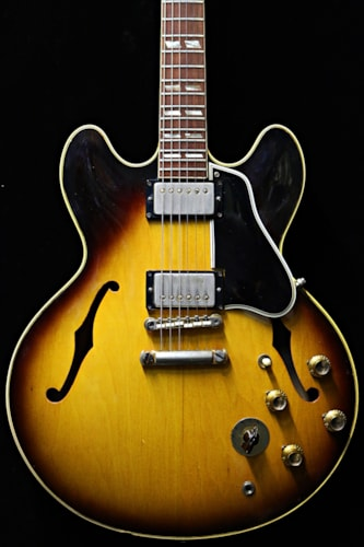 1963 Gibson ES-345 TD Sunburst, Excellent, Hard, Call For Price!
