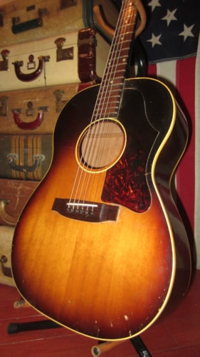 1963 Gibson LG-1 Sunburst, Excellent, Hard, $1,695.00