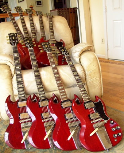 1963 Gibson SG and Les Paul standards Cherry, Excellent, Original Hard
