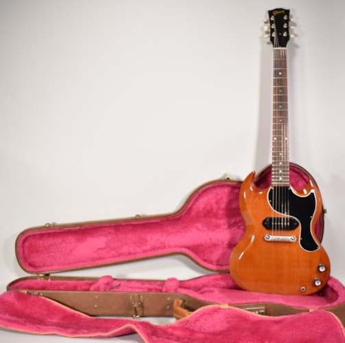 1963 Gibson SG Junior P-90 Cherry Red Finish Vintage Electric Guitar w/HSC