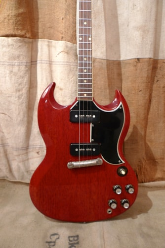 1963 Gibson SG Special Plectrum  Cherry Red, Excellent, Hard, $8,950.00