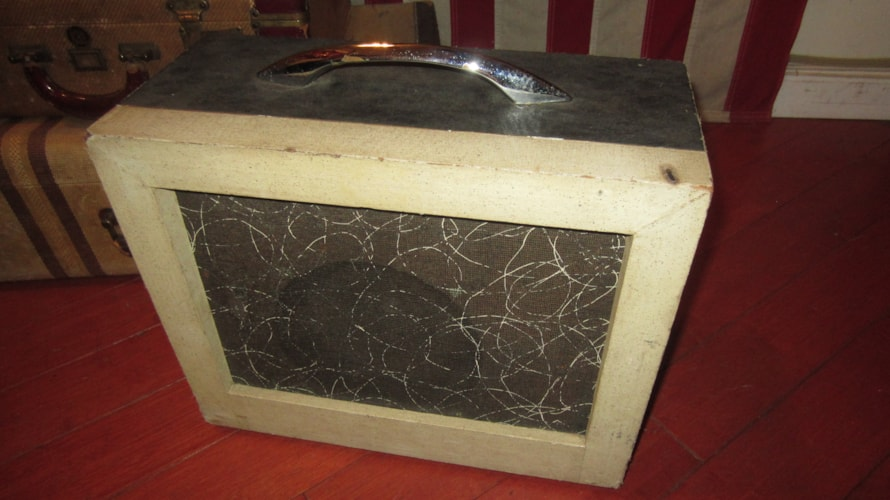 1963 Kay Model 503A Small Combo Amplifier Grey and White, Excellent, $295.00