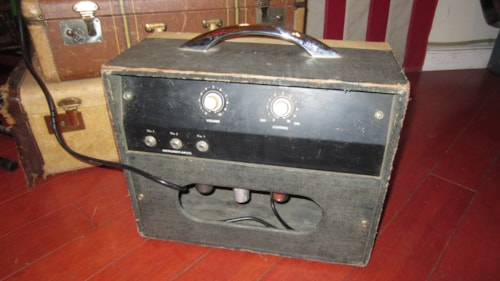 1963 Kay Model 503A Small Combo Amplifier White and Black, Excellent, $395.00