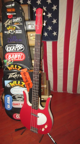 1964 Danelectro Longhorn Electric Bass Red, Excellent, Hard, $995.00