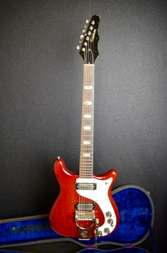 1964 Epiphone Crestwood Red, Very Good, Original Hard