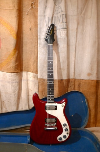 1964 Epiphone Wilshire Cherry Red, Very Good, Original Soft, $3,500.00