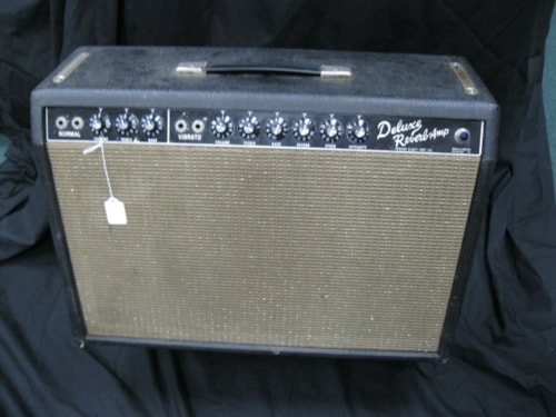 1964 Fender Deluxe Reverb Black, Good, $1,995.00