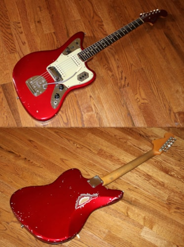 1964 Fender® Jaguar® Candy Apple Red, Very Good, Original Hard