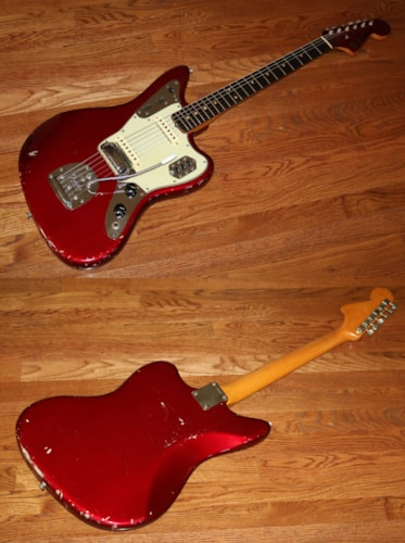 1964 Fender Jaguar Candy Apple Red, Very Good, Original Hard, $5,995.00