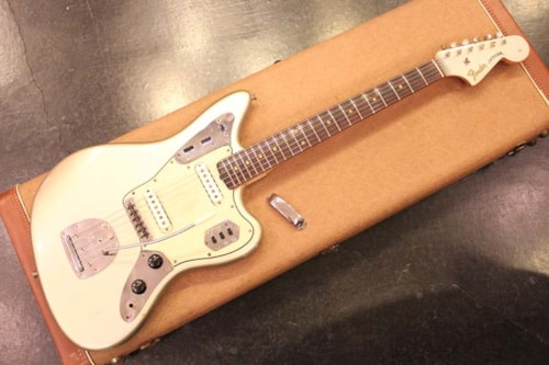 1964 Fender® Jaguar® Inca Silver, Excellent, Original Hard, Call For Price!