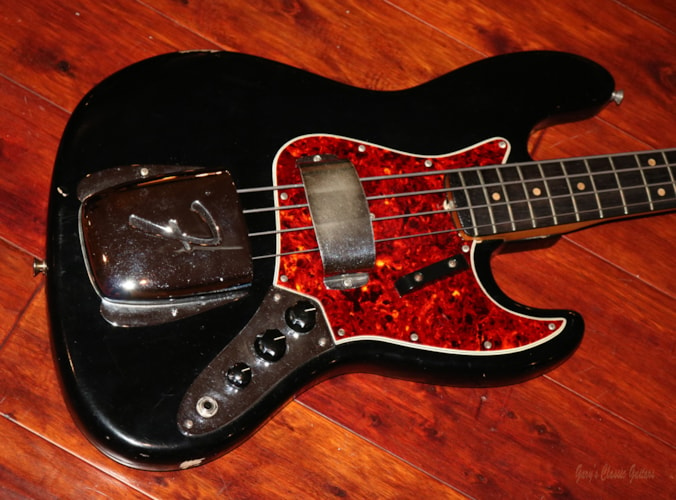 1964 Fender® Jazz Bass®  (#FEB0303) Black, Excellent, Original Hard, $9,595.00