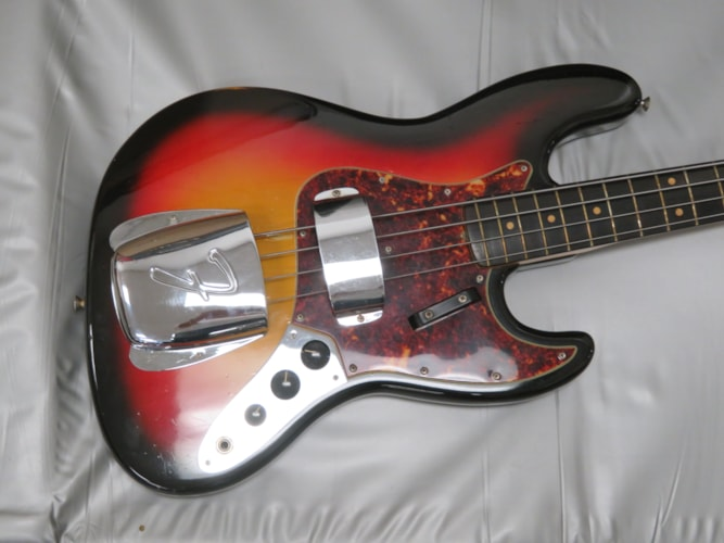 1964 Fender Jazz Bass sunburst, Excellent, Original Hard, Call For Price!