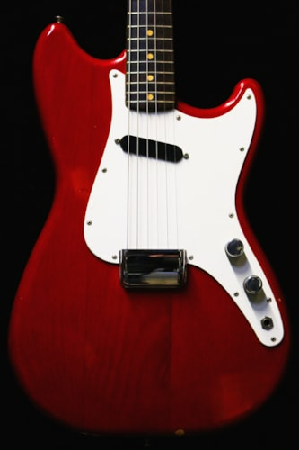 1964 Fender® Musicmaster™ See Through Red, Mint, Original Hard, Call For Price!