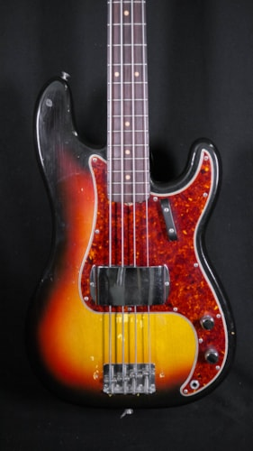 1964 Fender Precision Bass 3 Tone Sunburst, Very Good, Original Hard, $5,995.00