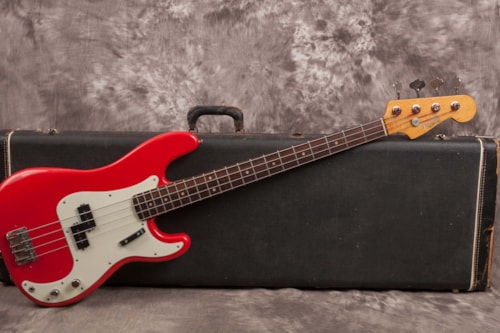1964 Fender Precision Bass Fiesta Red