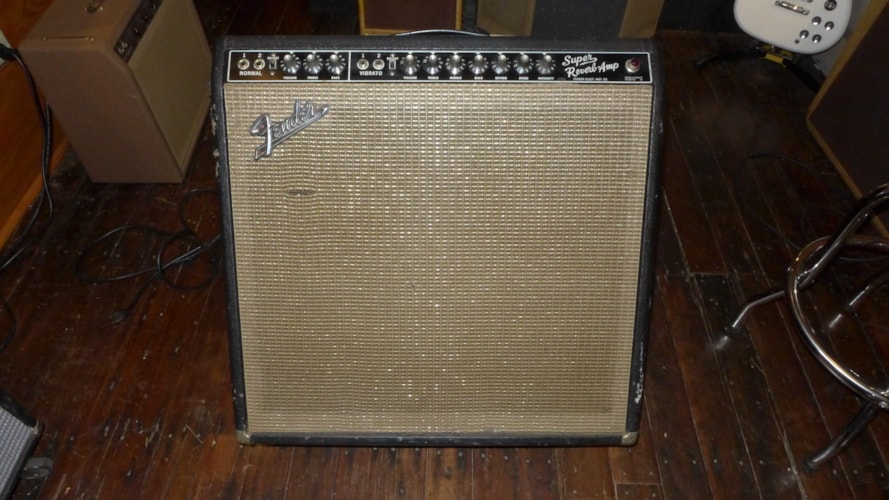 1964 Fender® Super Reverb® Black, Very Good, $2,200.00