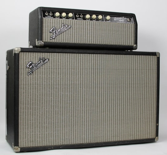 1964 Fender® Tuxedo Bassman® Head w/2x12 Cabinet Blackface, Excellent, $3,499.00